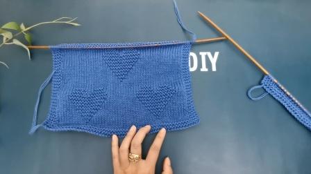 一心一意围巾编织教程