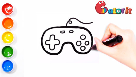 你爱玩游戏吗?教你画一个简单又好画的游戏手柄