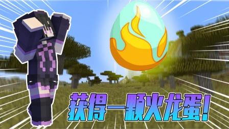 我的世界冰火传说04:开局送一颗火龙蛋?包包直接变成了龙骑士!