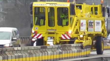 老外修路用的机械,怪不得干活这么省力,国内很少见!