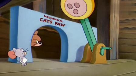 猫和老鼠:杰瑞被泰菲玩坏了,用猫爪把杰瑞拍扁了(2)
