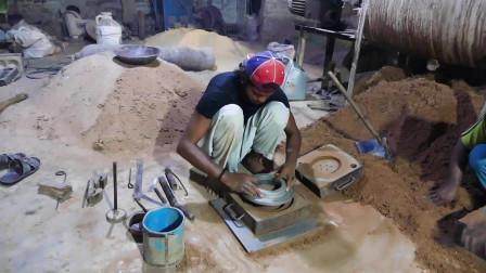 实拍印度小工厂,看看他们是如何铸造法兰的,这质量我是不敢用