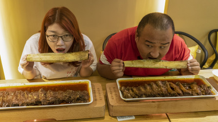 139一根的牛大排?比胳膊还长?北京最火牛大排!酱香味浓肉质软烂,超下饭!