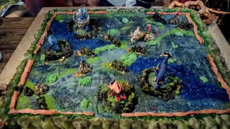大神厨师制作王者峡谷地图,全部都是可以吃哦