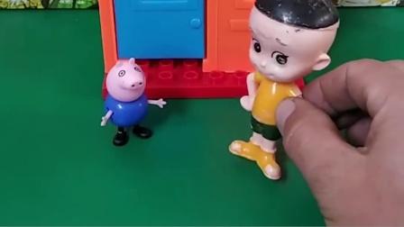 乔治和大头都说小汽车是自己的爸爸买的,大宇说是自己的妈妈买的,乔治和大头的爸爸买的是推土车啊。
