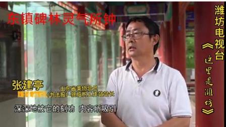 张建亭之潍坊电视台《东镇碑林 灵气所钟》