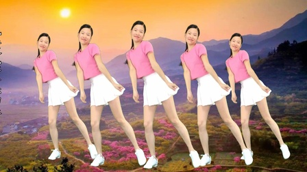 广场舞《桃花朵朵开》简单入门基础步子舞