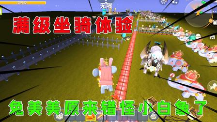 迷你世界:满级坐骑体验,兔美美原来错怪小白象了