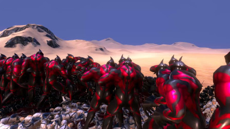 史诗战争模拟器:100个贝利亚奥特曼VS五千名持剑士兵
