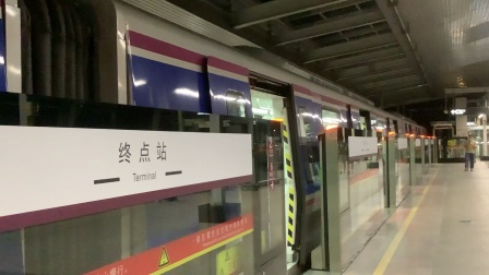 2020年8月19日,广州地铁6号线L3型列车06×063-064香雪→浔峰岗普通车,浔峰岗下行站台进折返线。