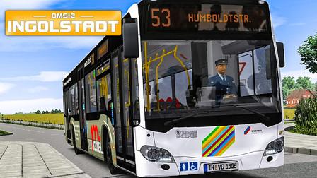 巴士模拟2 - Ingolstadt #5:0.7.0版本新线路53路 阿尔法罗密欧广告奔驰C2 | OMSI 2 Ingolstadt 53