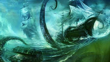深海巨兽挪威海怪,体型巨大可将船打翻