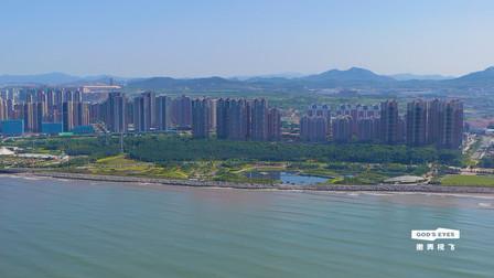 航拍烟台开发区沿海房产,一片海景房,八角房价都达到了11000元
