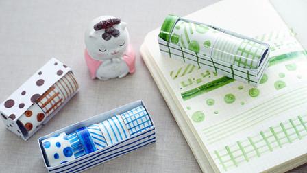 一种颜色自制ins风透明手账胶带,都是身边的材料,步骤超简单
