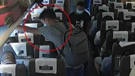 上海:男子高铁霸座拒不让 失控打人被行拘 共度晨光 20200821 高清