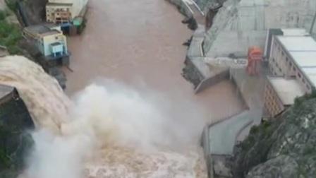 黄河上游第4号洪水与中游第5号洪水同步演进 共度晨光 20200821 高清