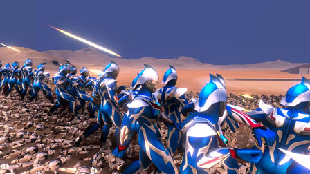 史诗战争模拟器:100个奈克赛斯奥特曼VS5000名士兵