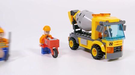 积木拼装搅拌车