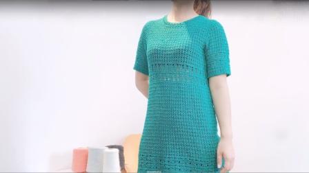 第301集那一款绿裙子钩织教程(下)小辛娜娜钩织教程钩织裙子