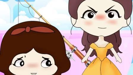 贝儿竟然被游戏搞疯了这题太难了美人鱼太难了白雪公主动画