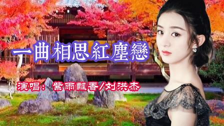 紫雨飘香/刘洪杰《一曲相思红尘恋》对唱情歌,歌声深情悠扬好听