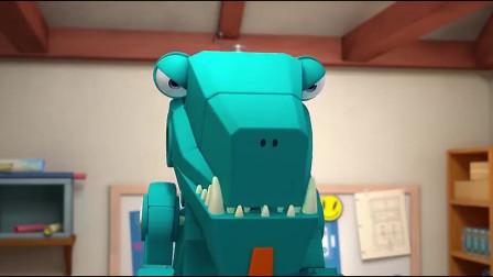 超级飞侠:大恐龙被启动,这叫声太霸气了,还原度挺高啊!
