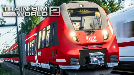 TSW2 科隆亚琛高速 #:1在迪伦站接取一列重联BR442并开到科隆 | 模拟火车世界 2