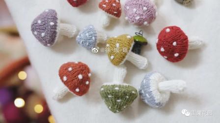 【小蘑菇】零基础棒针速成小物件编织教程