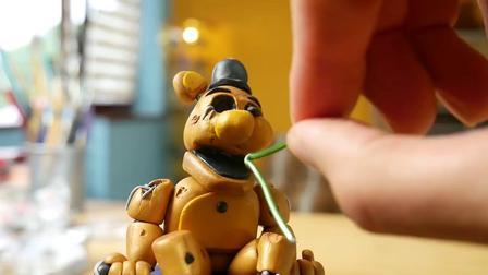 手办:用软泥打造玩具熊的五夜后宫黄金弗雷迪