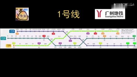 广州地铁1号线(西塱—广州东站)闪灯图与报站