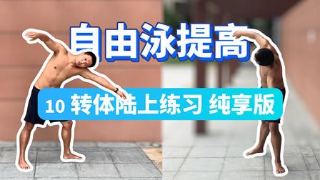 【自由泳提高】10.转体陆上练习纯享版|梦觉教游泳