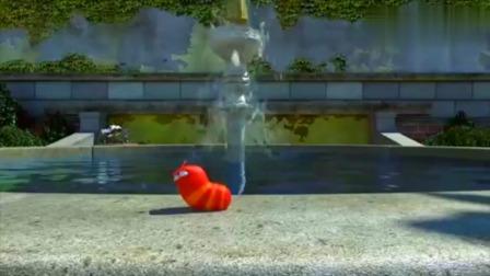 爆笑虫子:小红溺水,大黄为了救他,只好忍痛放弃甜甜圈