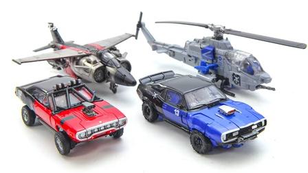 变形金刚电影大黄蜂工作室系列粉碎汽车直升机空战机器人玩具