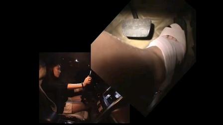 中国美女轰油门试车