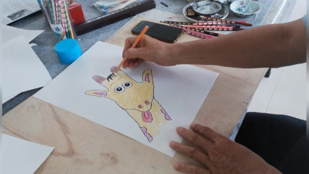 趣味手形卡通画示范3