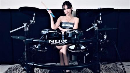 陈曼青VelaBlue 《Samajavaragamana》-NUX DM-7X Digital Drum Cover.