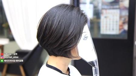 美发店常见大方减龄短发修剪,美发师技术学习