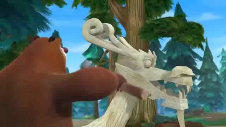 """熊出没之冬日乐翻天:熊二制造""""鸟头""""龙舟,熊大看了笑到肚"""