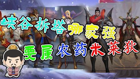无兵线拆塔最强的就是米莱狄了吧,刘禅老夫子都是垃圾,不服来辩