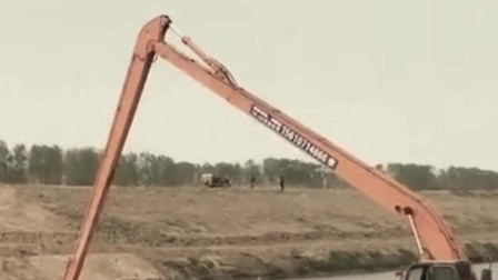 加长臂挖掘机说,这是我最喜欢的工作!