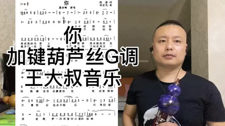 屠洪刚的《你》景泰蓝加键葫芦丝G调演奏,不改变原指法能吹高音,认准王大叔音乐