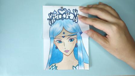 一张纸手绘精灵梦叶罗丽冰公主平民和女王发型,有啥区别?太美了