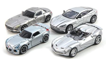 变形金刚工作室系列银色爵士横扫声波库格曼 4车辆汽车机器人