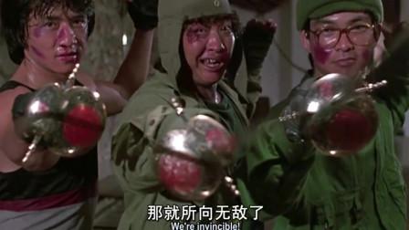 三个打一个,成龙、元彪、洪金宝,是三剑客还是三贱客?