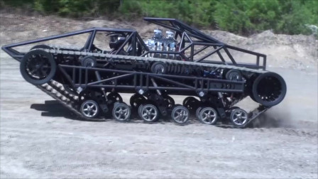 老外设计的越野赛车,看看是不是比轱辘的强很多