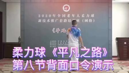 柔力球新技术推广套路《平凡之路》 第八节 背面口令示范