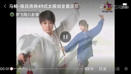 马畅全套示范陈氏传统49式剑