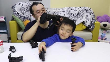开箱满配M416玩具枪,带4倍镜和垂直握把,满足骁宝特种兵的梦