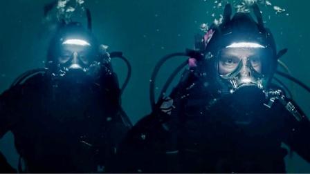 姐妹深海潜水,虎鲸好奇靠近可下一秒跑了,我知道她们完了