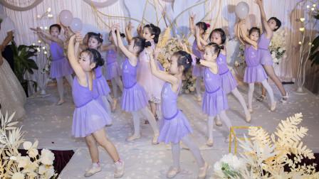花儿舞蹈少儿学员展示《听我说谢谢你》婚礼感恩舞蹈
